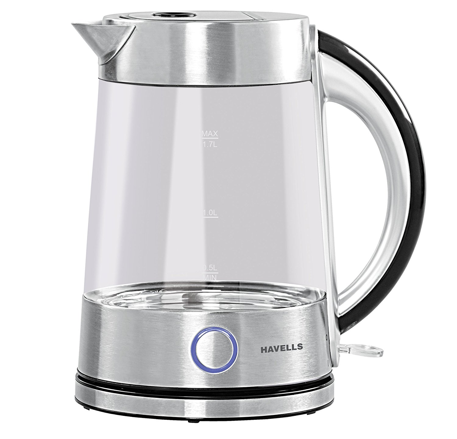 Havells Vetro 17l 2200 Watt Stainless Steel Kettle Glass Wiring Zones Kitchen Electric